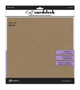 Ranger Inkssentials Surfaces Kraft Cardstock 12''x12''