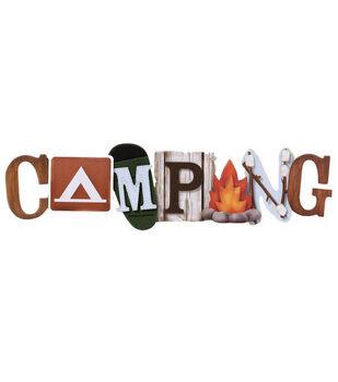 Karen Foster 3-D Title Sticker-Camping