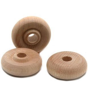 Wood Shapes-Toy Wheel, 1/4 Hole 1 x3/8