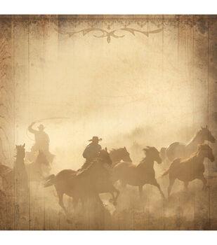 "Western Paper 12""X12""-Cowboys"