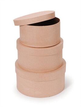 Darice® Set of 3 Paper Mache Boxes-8'',9'' & 10''