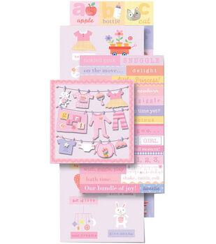 K & Company Sticker Embellishment Flip Pack-Baby Girl