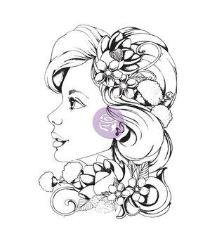 Prima Marketing Bloom Girl Sophie Cling Rubber Stamps