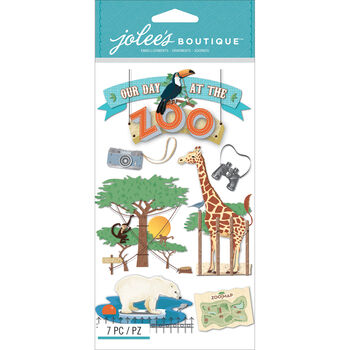 Jolee's Boutique Dimensional Stickers Zoo