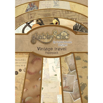 Debbi Moore Design Shabby Chic A4 Paper Pack Travel