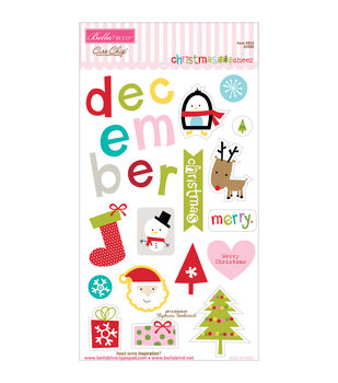 Bella Blvd Christmas Cheer Chipboard Icons
