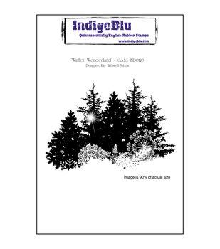 IndigoBlu Winter Wonderland Cling Mounted Stamp