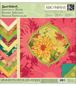 K &Company Sweet Nectar Mod Specialty Paper Pad 12''x12''