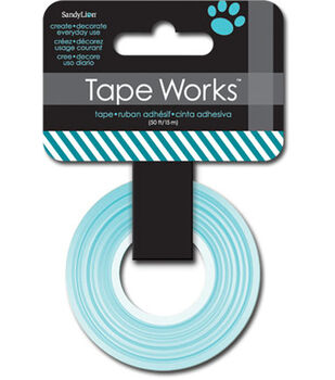 "Tape Works Tape .625""X50'-Diagonal Stripe Dark Teal"
