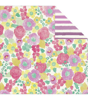 "Jubilee Sherbet Double-Sided Cardstock 12""X12""-Happy Lovely"