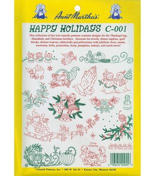 Aunt Martha Transfer Pattern Collections Happy Holidays