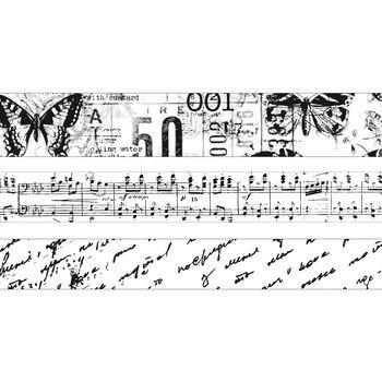 Kaisercraft Printed Tape Black