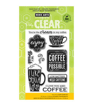 Hero Arts Clear stamps Need Caffeine