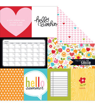 Bella Blvd Summer Squeeze Daily Details Double-Sided Cardstock Paper