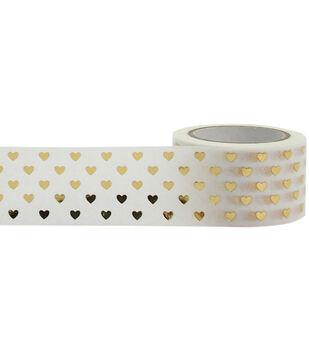 Little B Foil Tape 25mmX10m-Gold Hearts