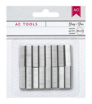 American Crafts Diy Gray - Mini Staple Refills