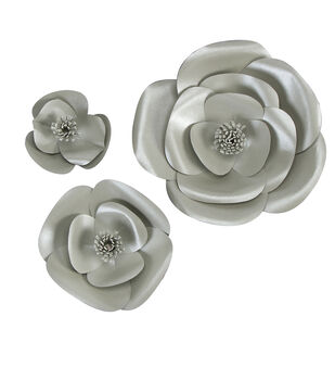 Mixers - Silver Pearl Flowers, 3 pack