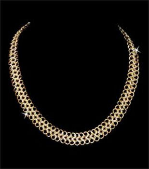 Chain Maille 18'' European 4-in-1 Necklace Jewelry Kit-1PK/Gld & Slvr