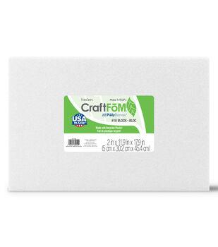 2''x12x18'' Styrofoam Block-1PK/White