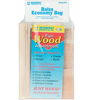 Midwest Balsa Wood Economy Bag