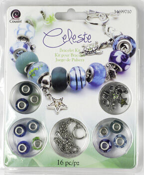 Cousin Large Hole Bead Kit Celeste Bracelet Kit