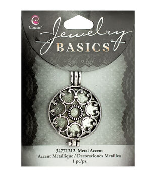 Jewelry Basics Metal Accent 1/Pkg-Silver Filigree Locket