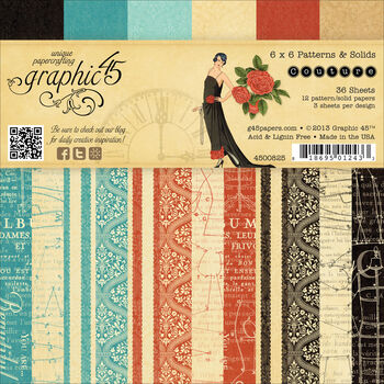 Graphic 45 Couture Double-Sided Paper Pad 6''x6''
