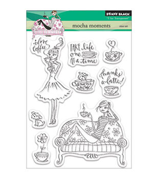 Penny Black Mocha Moments Clear Stamps 5''x6.5''