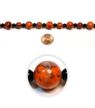 Asian Flair Rd Small Acrylic Beads