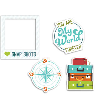 Perfect Vacation Cardstock Die-Cuts 12/Pkg-Oh Snap