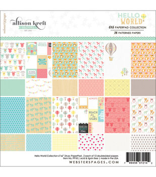 Webster's Pages Hello World Paper Pad 6''x6''