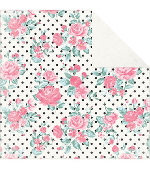 """Classique Pretty Double-Sided Cardstock 12""""X12""""-Rosette"""