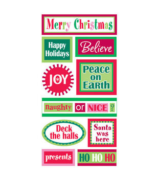 Sandylion Dimensional Stickers-Christmas Words