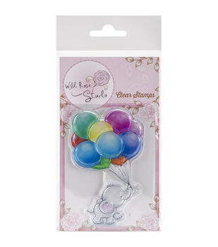 Wild Rose Studio Bunch Of Balloons Clear Stamp