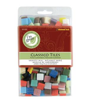 """Classico Tile Mix 3/8"""" 16oz/Pkg-Assorted Colors"""