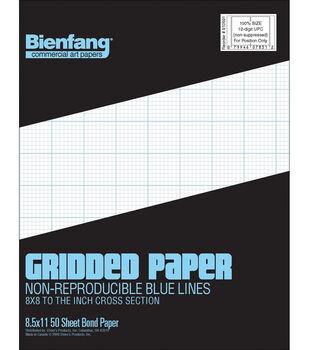 """Bienfang Gridded Paper Pad 8.5""""X11"""""""