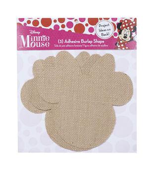 Disney Minnie Mouse Ears Adhesive Burlap Small
