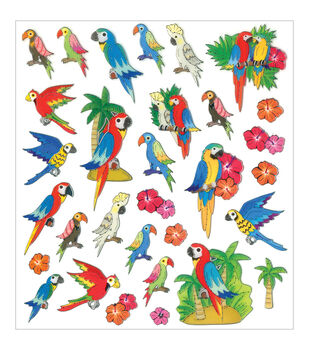 Multicraft Imports Toucan Dazzle Clear Stickers