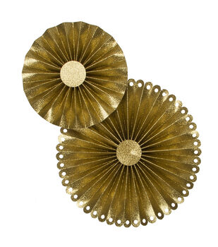 Mixers - Glitterized Rosettes, King's Crown, 2 pack
