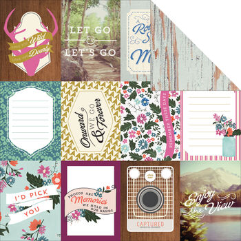 Carta Bella Wildflower Double-Sided Cardstock Journaling Cards 3''x4''
