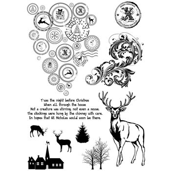 IndigoBlu Cling Mounted Stamp Looks Like Reindeer