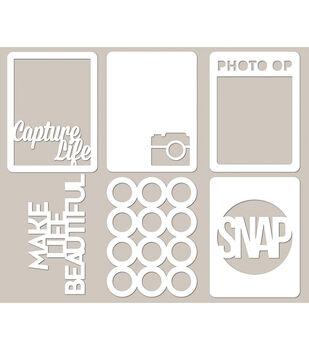 Jillibean Soup Photography Mini Placemats Die Cut Cardstock Cards