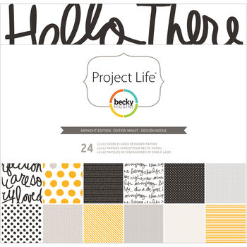 Project Life Midnight Edition Designer Paper Collection Pack