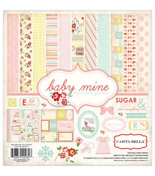 Carta Bella 12X12in - Baby Mine Girl Collection Kit
