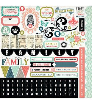 "Moments & Memories Cardstock Stickers 12""X12""-Element"