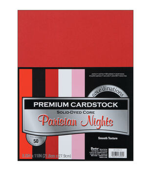 "Cardstock 8.5""X11"" 50/Pkg-Parisian Nights-Smooth"