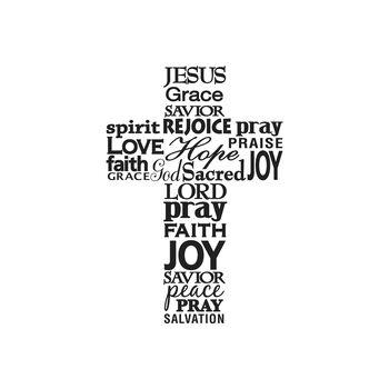 Darice Embossing Folder - Faith Words in Cross,  4-1/2 x 5-3/4 inch
