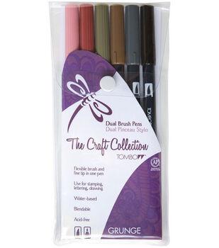 Tombow Dual Brush Pen Set – 6PK, Grunge