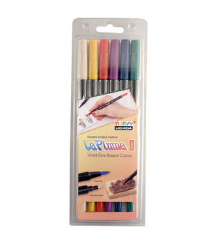 Leplume II 6 Piece Double Ended Marker Set Modern Art Colors