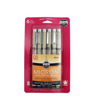 Pigma Micron Pen Set-6PK